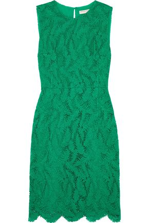 EMILIO PUCCI Cotton-blend guipure lace mini dress