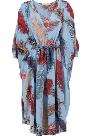 EMILIO PUCCI Printed gathered silk dress