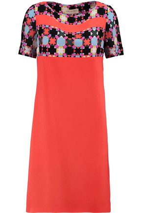 EMILIO PUCCI Paneled printed silk mini dress