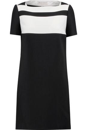 EMILIO PUCCI Two-tone paneled wool-blend crepe mini dress
