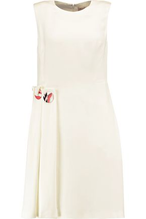 EMILIO PUCCI Embellished pleated crepe dress