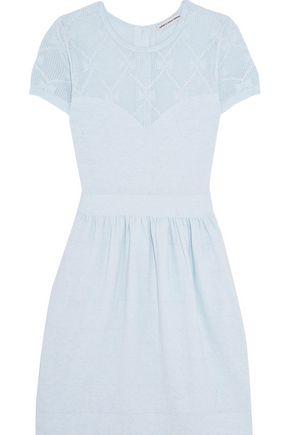 AUTUMN CASHMERE Pointelle stretch-knit mini dress