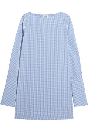 TOTÊME Lavarone gingham cotton mini dress