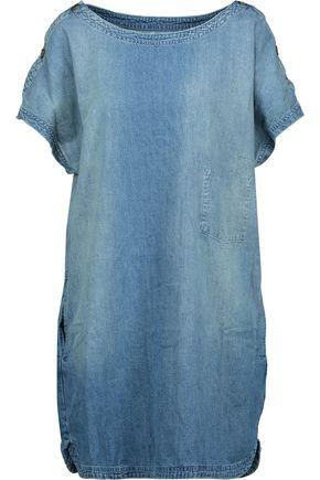 CURRENT/ELLIOTT Faded denim mini dress