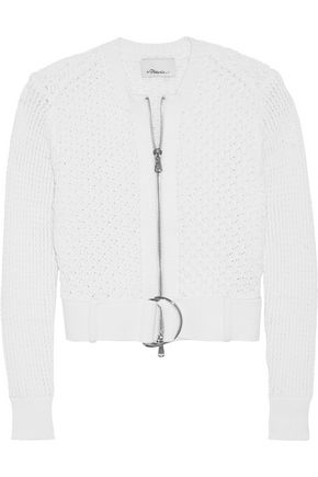 3.1 PHILLIP LIM Buckled cotton-blend cardigan