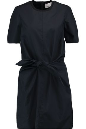 3.1 PHILLIP LIM Knotted cotton-poplin mini dress