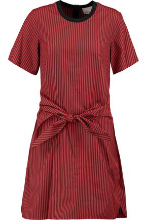 3.1 PHILLIP LIM Knotted striped cotton and silk-blend dress