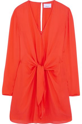 3.1 PHILLIP LIM Tie-front silk mini dress