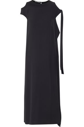 HELMUT LANG Cold-shoulder draped crepe gown