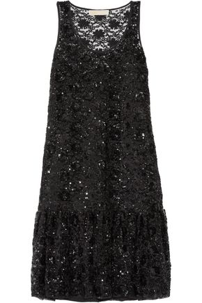 MICHAEL MICHAEL KORS Sequin-embellished tulle dress