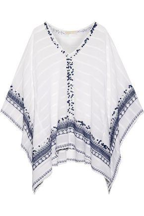 MICHAEL MICHAEL KORS Embellished cotton-gauze poncho