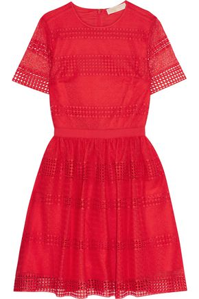 MICHAEL MICHAEL KORS Pleated lace dress