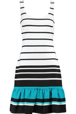 MICHAEL MICHAEL KORS Fluted striped faille mini dress