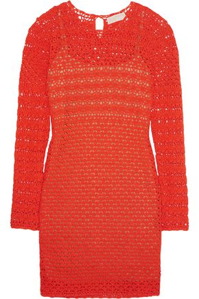 MICHAEL MICHAEL KORS Crocheted cotton mini dress