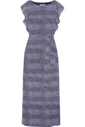 MICHAEL MICHAEL KORS Zephyr lizard-print chiffon maxi dress