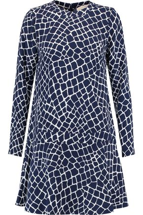 MICHAEL MICHAEL KORS Printed silk mini dress