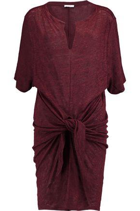 IRO Knotted linen mini dress