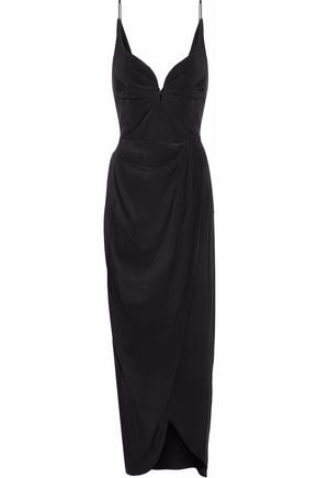 ZIMMERMANN Pleated silk-crepe gown