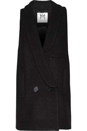 MILLY Lindsey double-breasted wool-blend vest