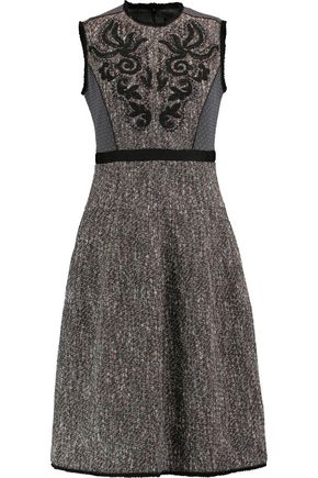 ETRO Embroidered cotton-blend jacquard dress