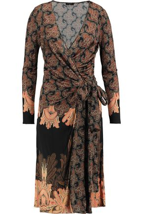 ETRO Printed silk wrap dress