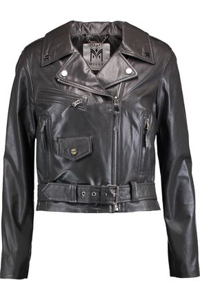 MILLY Leather biker jacket