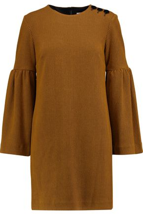 TIBI Ribbed stretch-knit mini dress