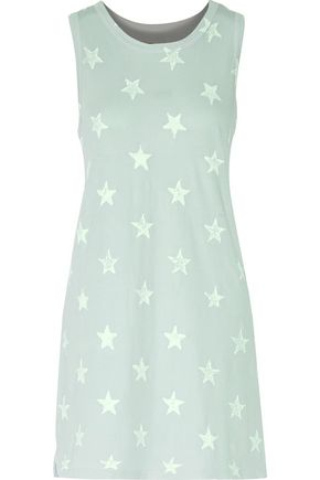 CURRENT/ELLIOTT The Muscle Tee printed cotton-jersey mini dress