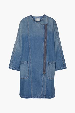 CURRENT/ELLIOTT Faded denim dress