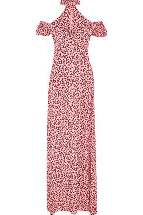 ALEXIS Addilyn halterneck floral-print crepe gown