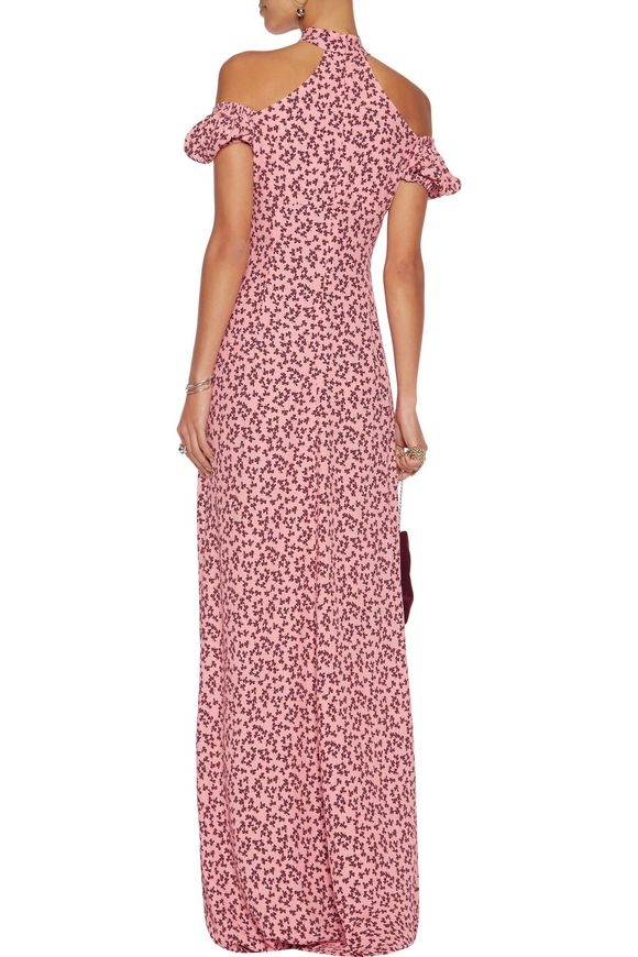 Addilyn floral-print crepe halterneck gown | ALEXIS | Sale up to 70% off |  THE OUTNET