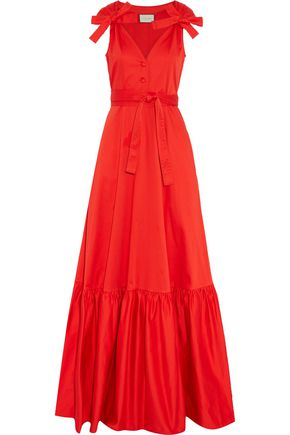 ALEXIS Indila fluted cotton-blend maxi dress