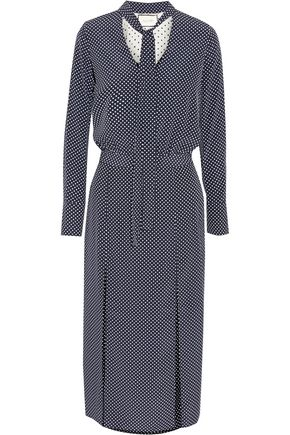 ALEXIS Noella polka-dot crepe de chine midi dress