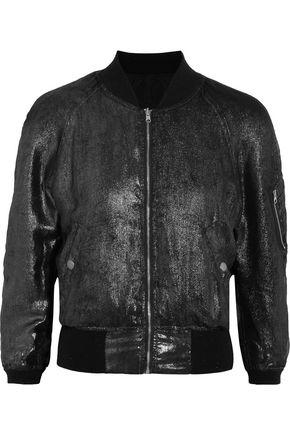 R13 Reversible metallic silk bomber jacket