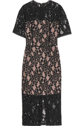 ALEXIS Cutout corded lace dress