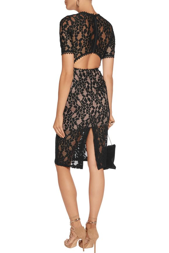 Remi cutout guipure lace midi dress | ALEXIS | Sale up to 70% off | THE  OUTNET