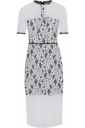 ALEXIS Remi open-back guipure lace midi dress