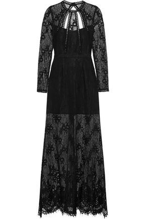 ALEXIS Nirav open-back guipure lace maxi dress