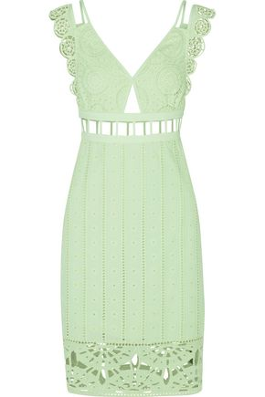 OPENING CEREMONY Cutout broderie anglaise cotton dress