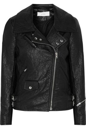 IRO Julyet faux textured-leather biker jacket