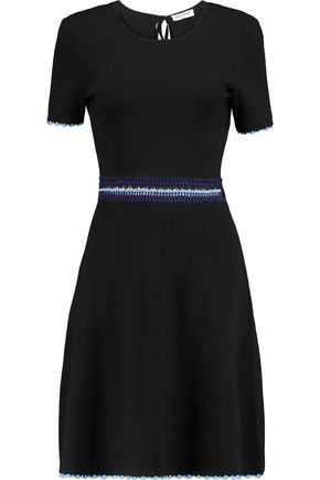 OPENING CEREMONY Crochet-trimmed cutout stretch-knit dress