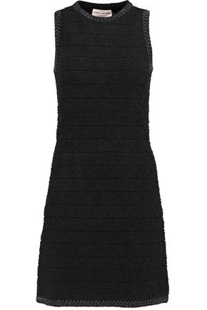 SONIA RYKIEL Striped bouclé-knit mini dress