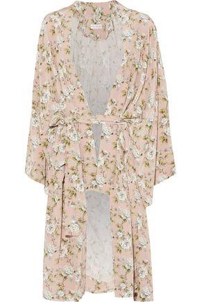 ROBERT RODRIGUEZ Floral-print silk crepe de chine jacket