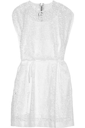 McQ Alexander McQueen Guipure lace mini dress