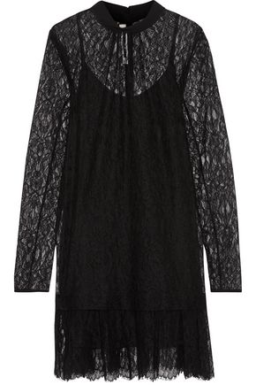 McQ Alexander McQueen Gathered corded lace mini dress
