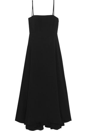 McQ Alexander McQueen Cutout crepe de chine dress