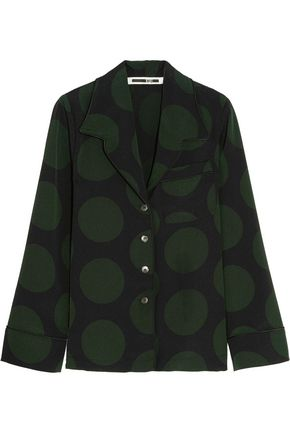 McQ Alexander McQueen Polka-dot crepe shirt