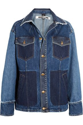 McQ Alexander McQueen Patchwork frayed denim jacket