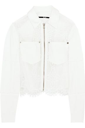 McQ Alexander McQueen Denim and lace jacket