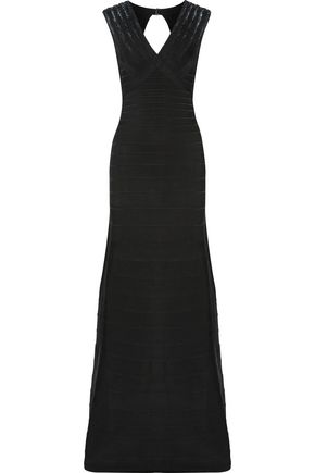 HERVÉ LÉGER BY MAX AZRIA Bettina open-back sequin-embellished bandage gown